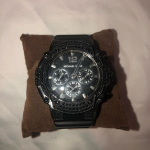 Michael Kors black crystal face watch